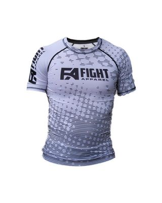 FIGHT APPAREL RANKED RASHGUARD WHITE