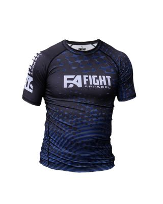 FIGHT APPAREL RANKED RASHGUARD BLUE