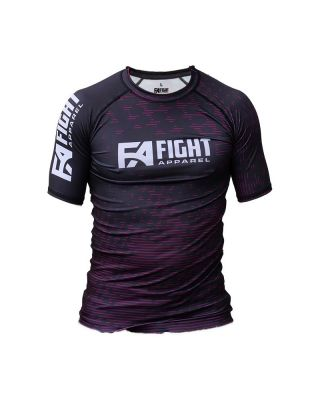 FIGHT APPAREL RANKED RASHGUARD PURPLE