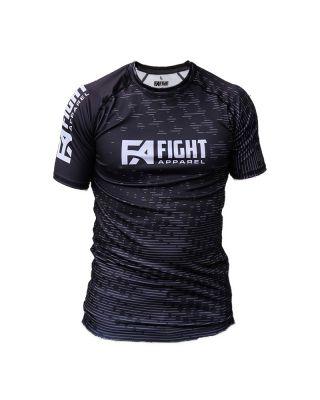 FIGHT APPAREL RANKED RASHGUARD BLACK