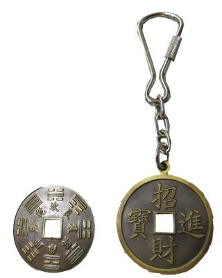 Schlüsselanhänger Ba Gua [30mm Broncefarben]