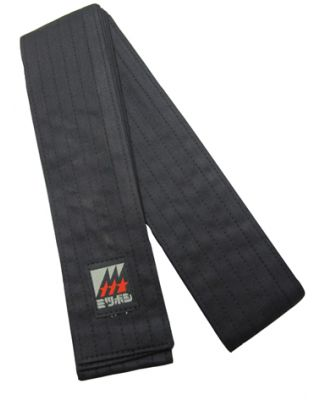 Iaido Obi Deluxe schwarz 400cm [Baumwolle]