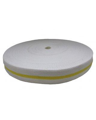 Gürtelrollen weiss/gelb [50 Meter]