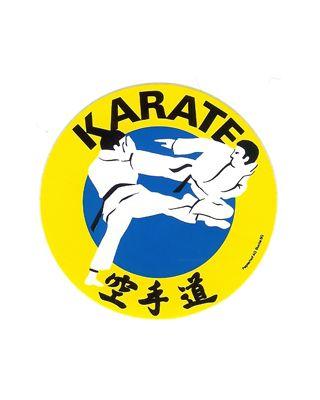 Karate Technik rund [50mm gelb/schwarz]
