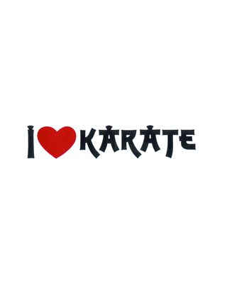 I Like Karate [50x195mm weiss/rot/schwarz]