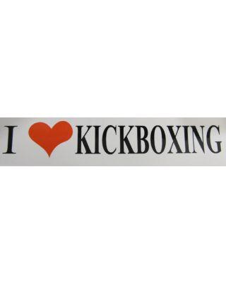 I Like Kickboxing [50x195mm weiss/rot/schwarz]