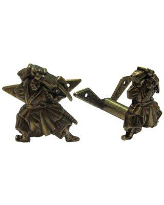 Wandhalter Samurai 2tlg. [Messing]