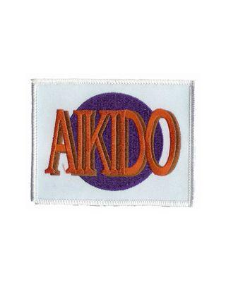 Aikido Schrift auf Sonne [weisser Grund]